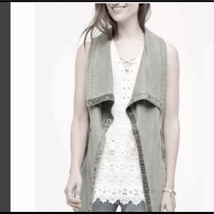 ANTHROPOLOGIE Marrakech light green vest XS